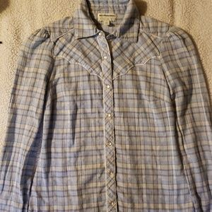 Anthropology kimchi blue plaid button front